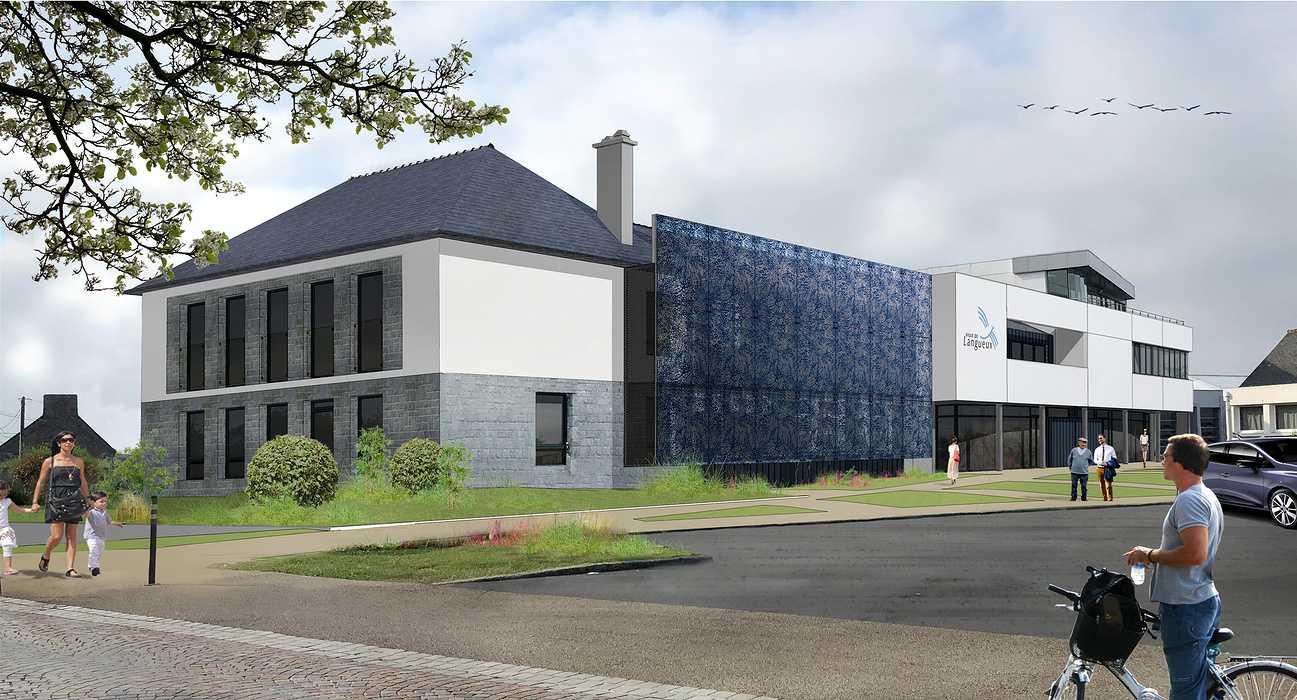 Chantier en cours : Réhabilitation de la Mairie de Langueux par la création d'Espaces Infos Services Publics 0