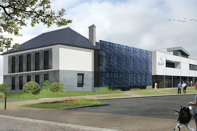 Chantier en cours : Réhabilitation de la Mairie de Langueux par la création d'Espaces Infos Services Publics