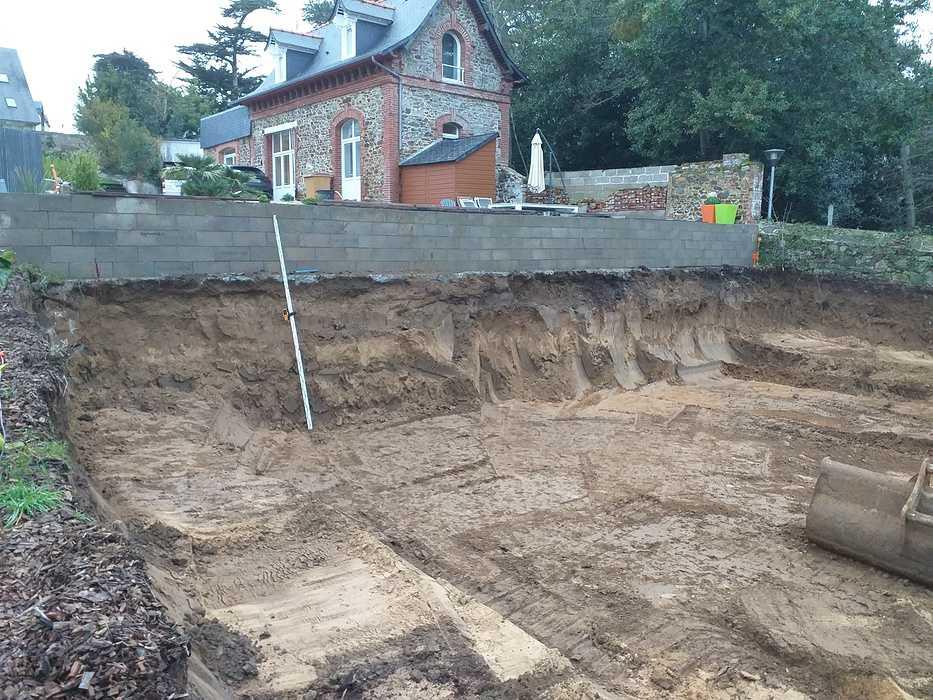 Fondations et béton banché - construction maison Pléneuf Val André 20210113170559