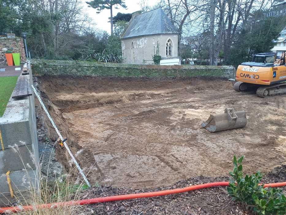 Fondations et béton banché - construction maison Pléneuf Val André 20210113170618