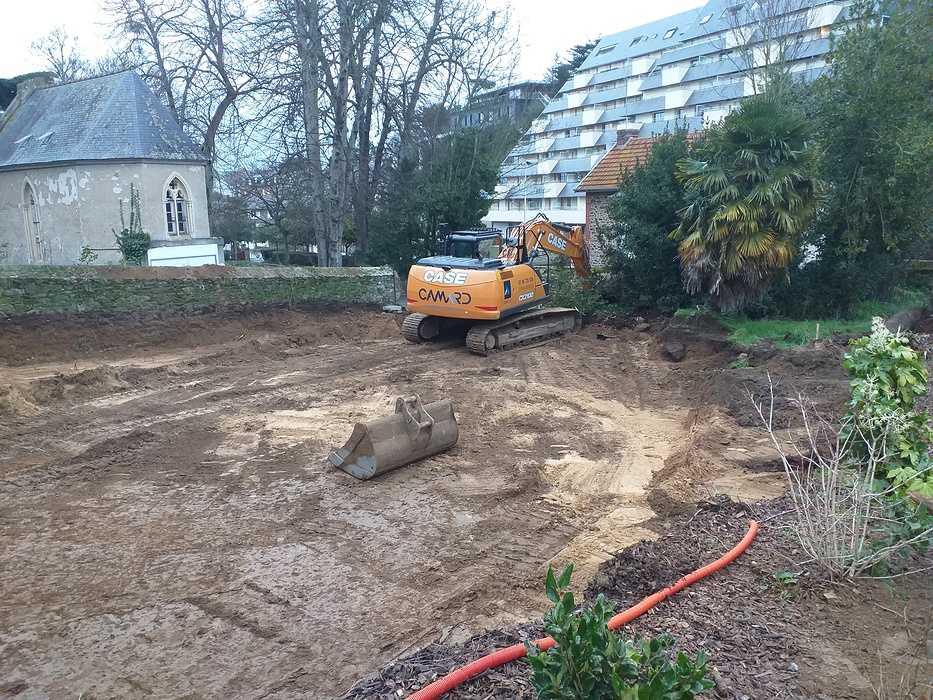 Fondations et béton banché - construction maison Pléneuf Val André 20210113170622