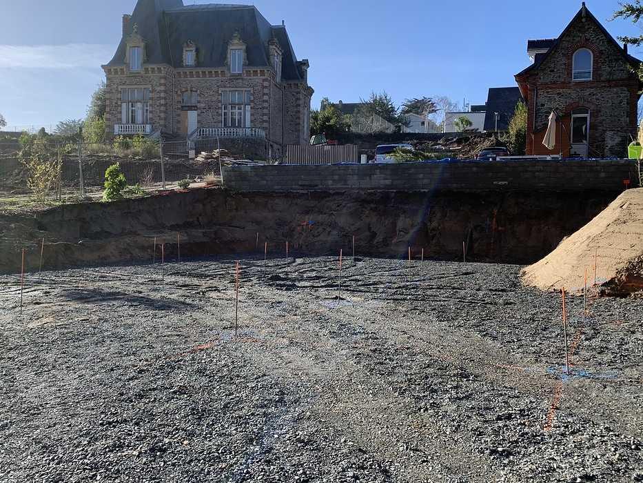 Fondations et béton banché - construction maison Pléneuf Val André implantationpourpieux