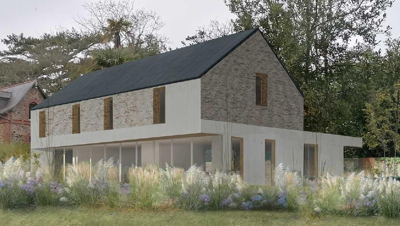 Fondations et béton banché - construction maison Pléneuf Val André 0