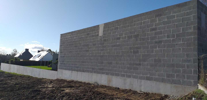 Construction mur de soutènement - lotissement 3
