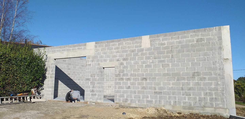 Construction mur de soutènement - lotissement 4