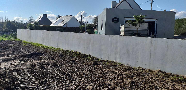 Construction mur de soutènement - lotissement 0