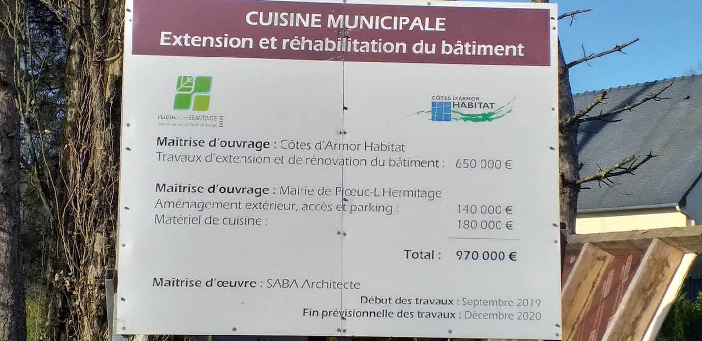 Extension cuisine municipale - Ploeuc l''Hermitagle 12599307927770926058749334163860026844709459n