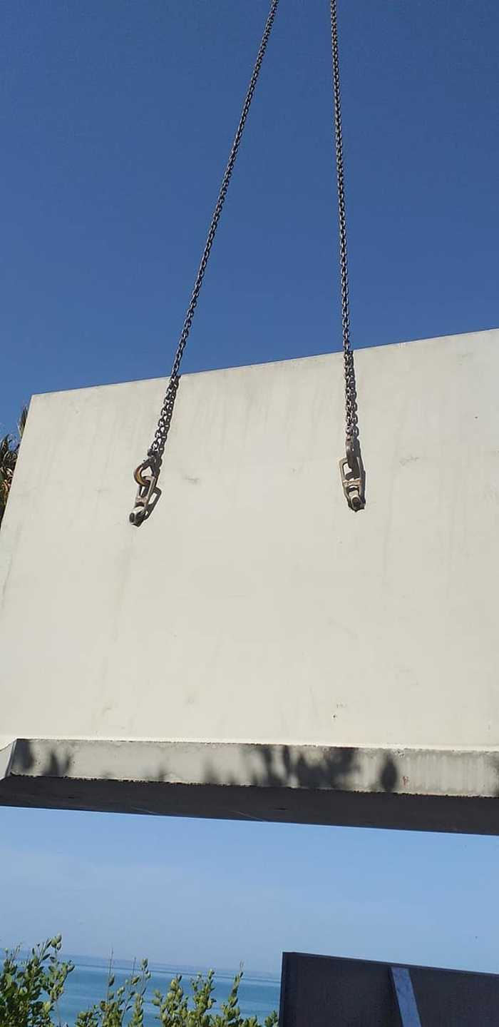 Élément en L - construction mur de soutènement- Val André 4