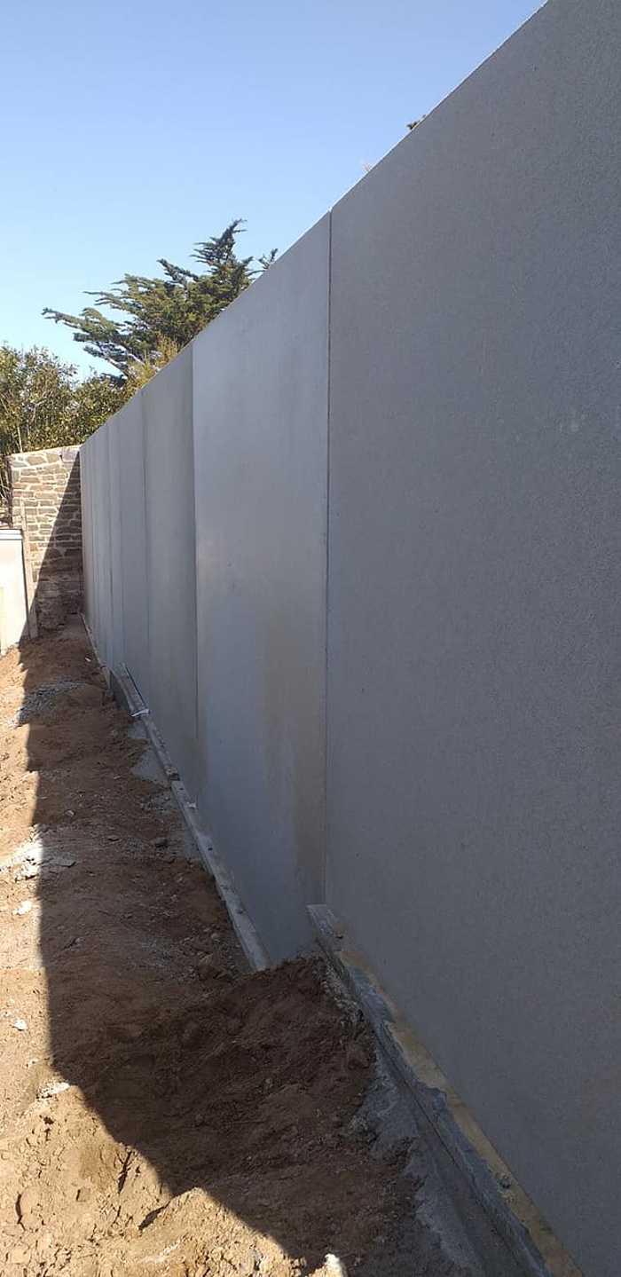 Élément en L - construction mur de soutènement- Val André 6