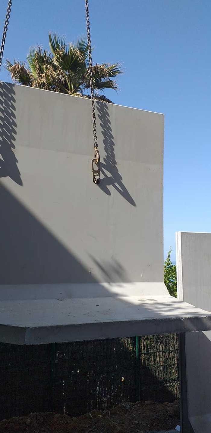 Élément en L - construction mur de soutènement- Val André 7