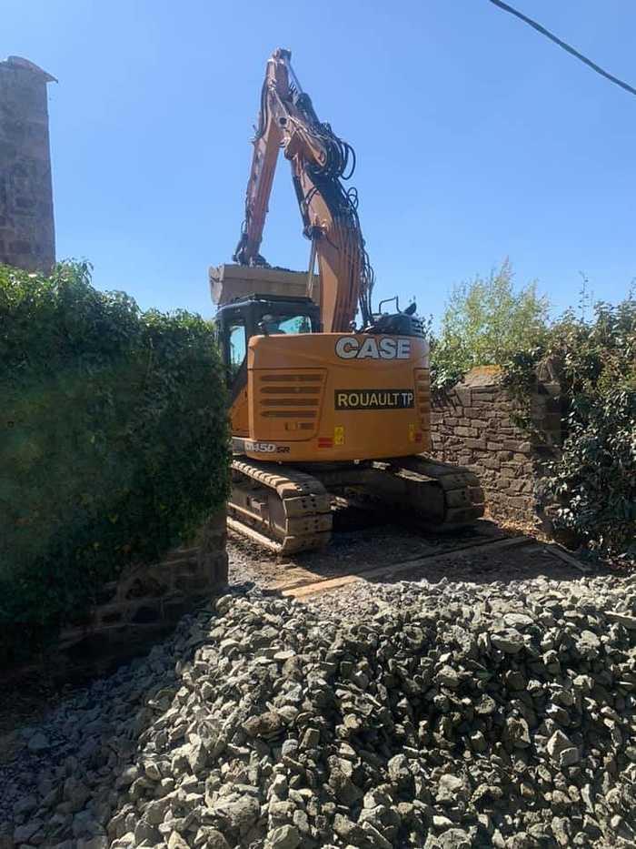 Terrassement et remblaiement matériaux drainant - mur de soutènement préfabriqué - Pléneuf 17318133052679177232824033952770999338889522n