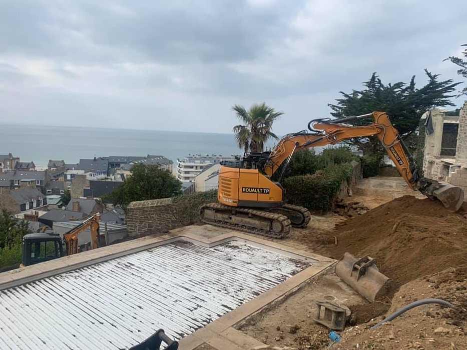 Terrassement et remblaiement matériaux drainant - mur de soutènement préfabriqué - Pléneuf 17353982452679181466156941943582573015670909n
